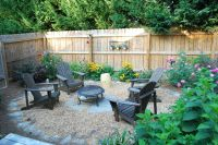 Simple setup for fire pit in backyard | Garden | Pinterest ...