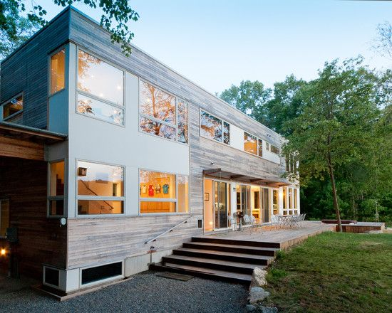Modern Wooden House Modern House International Style With Larger