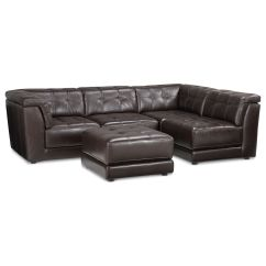 Sofa Pit Couch Sleeper Comparison Stacey Leather Sectional 5 Piece Modular 2
