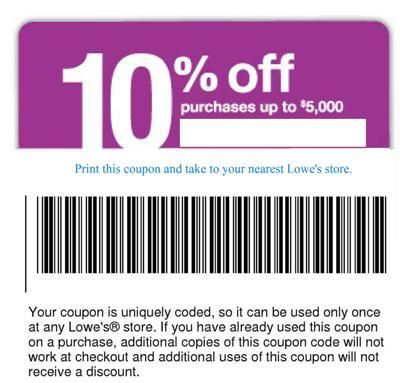 lowes 10 off coupon  httpbuylowescouponscom  lowes  Pinterest  Lowes 10 and Recipes