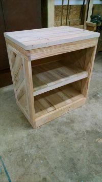 DIY Pallet Nightstand or Side Table | Nightstands, Pallets ...