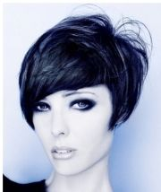 short cheekbone length bob women