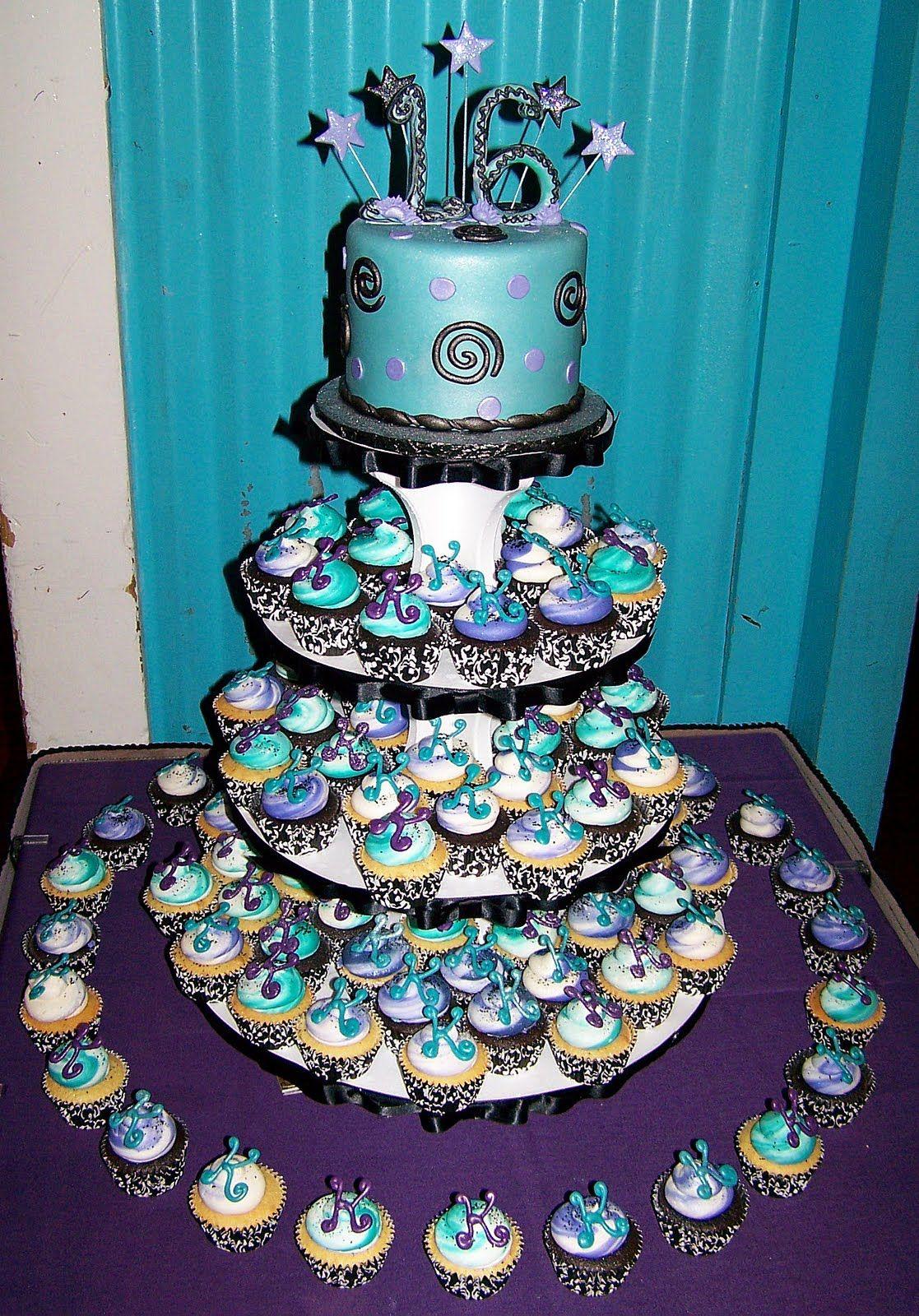 Sweet 16 Cupcake Cake Party Ideas Pinterest Sweet 16