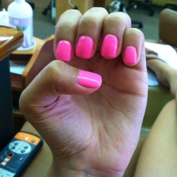 Neon Pink Shellac Nails Pinterest Pink manicure