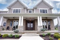 Traditional Exterior of Home with exterior stone floors ...