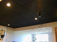Elegant Spray Paint Basement Ceiling Black Ideas ...