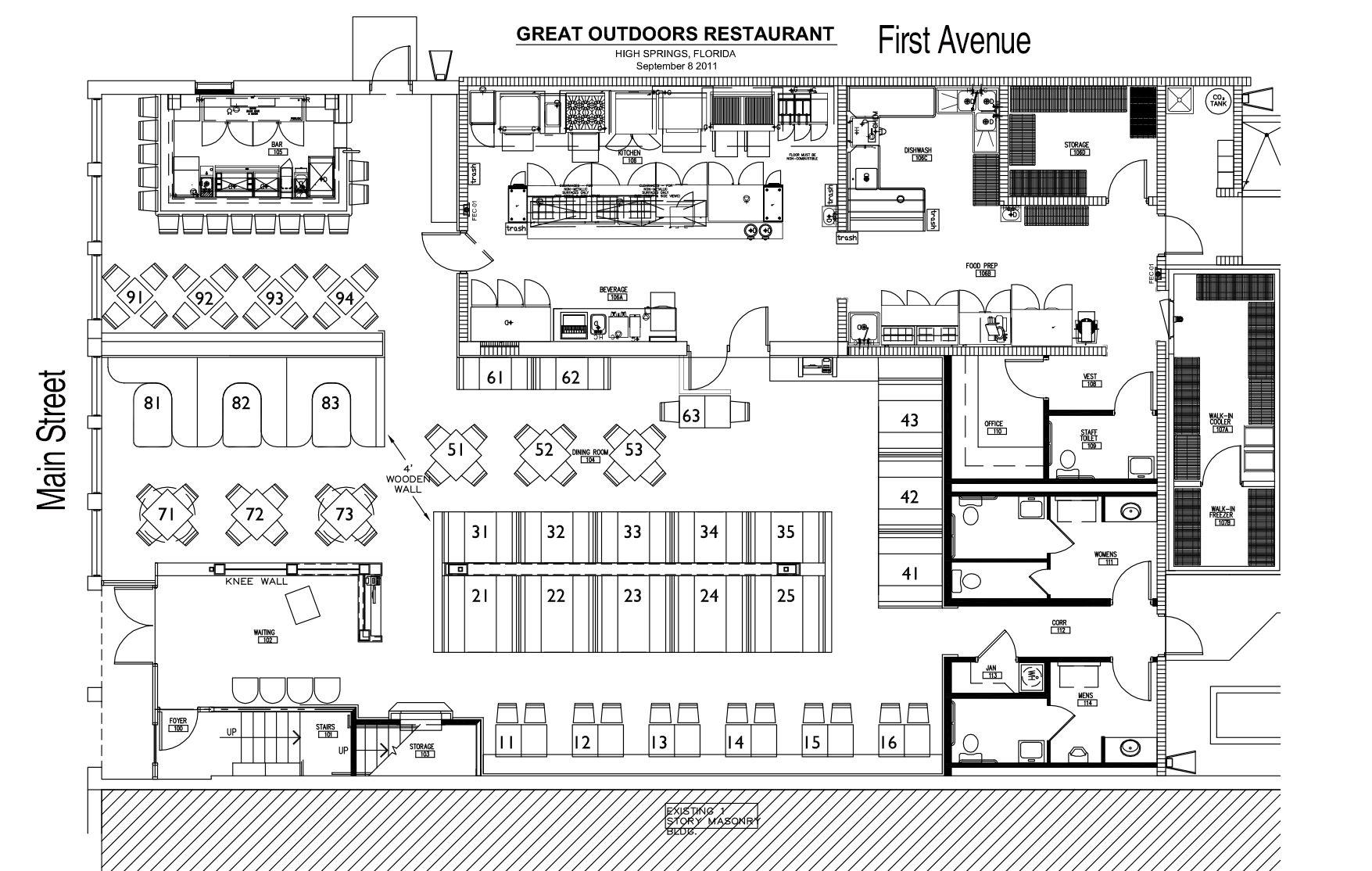 Restaurant Interior Design Floor Plan