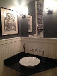Architecture. Elegant Powder Room Vanities Design