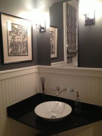Architecture. Elegant Powder Room Vanities Design ...