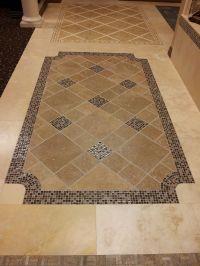 Tile floor design idea for the entry way