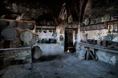 ancient greek kitchens greece kitchen medieval food cooking servants homes wealthy ages household gourmet poor through houses architecture run fish