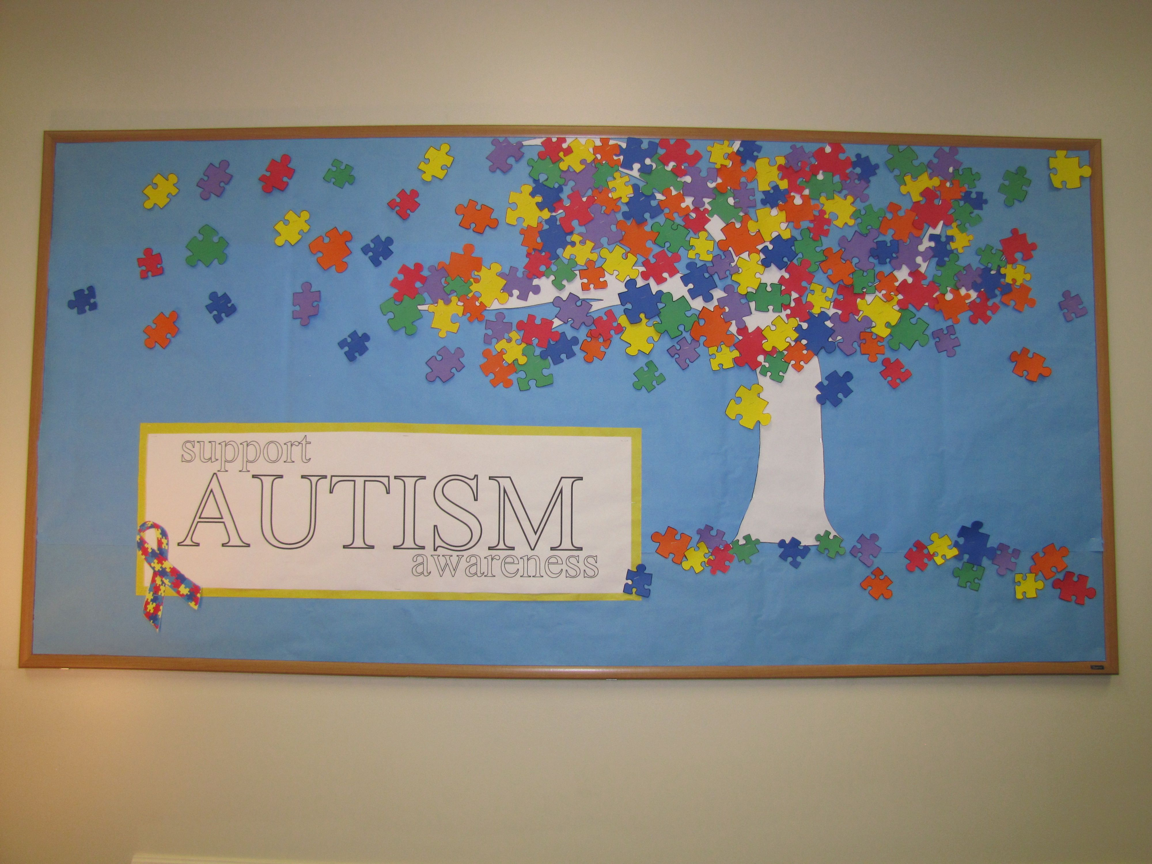 Support Autism Awareness Bulletin Board