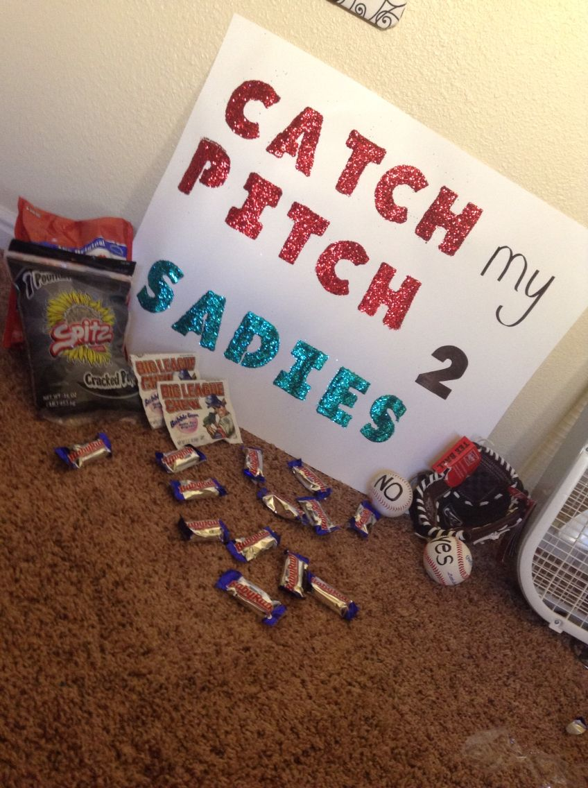 How To Ask A Baseball Player To Sadies Cute Ideas