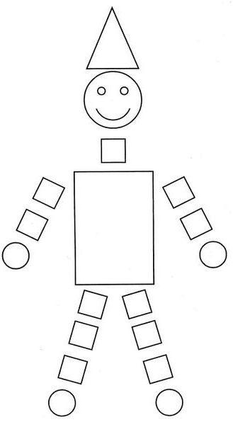 Para formar dibujos con las figuras geométricas (de la web