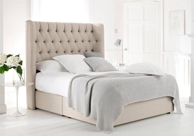 Knightsbridge Upholstered Divan Base And Headboard Super King Size Beds Bed Sizes