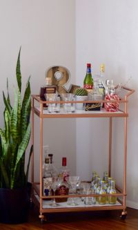 DIY Copper & Marble Bar Cart Makeover // Bar Cart Styling ...