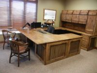 Beautiful custom office desk, made from rustic knotty ...