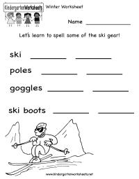 Kindergarten Winter Worksheet Printable   Worksheets ...
