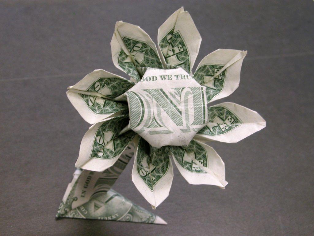 money origami diagram holden lx torana wiring dollar daisy flower