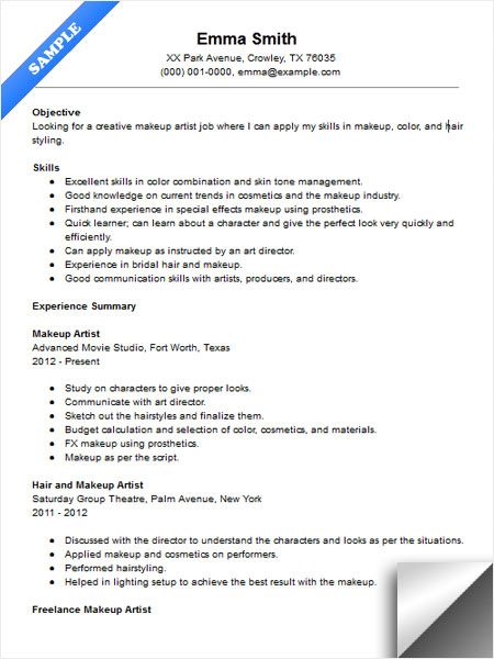 Artist Sample Resumes Artist Resume Sample Writing Guide Resume