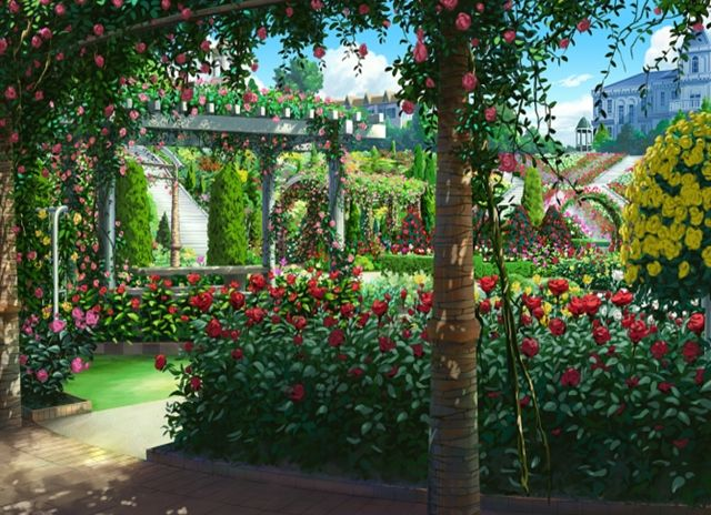 Florest and Garden, Background, Anime Background, Anime
