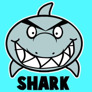 shark cartoon draw easy drawing step mask craft sharks fish drawings tutorial cartoons template steps animals drawinghowtodraw crafts tutorials printable