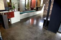 gray brown stained concrete floors | residential floors ...