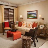 decoration creative orange living room chair using ...