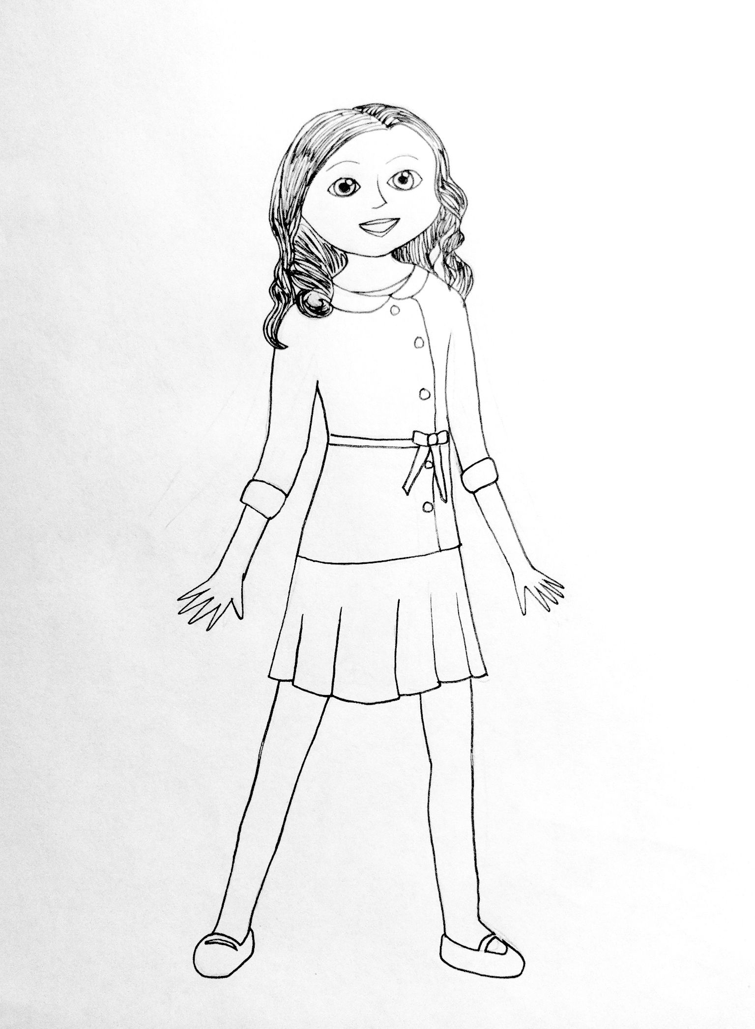 Caroline Doll Friend To Coloring Pages Google Search Adult