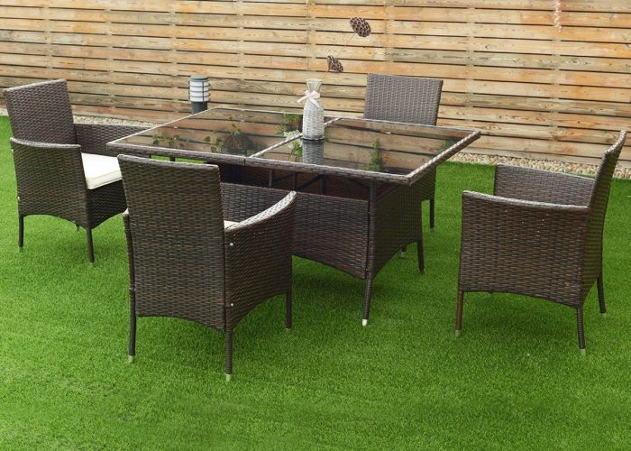Costway pcs rattan garden sofa set outdoor patio furniture table chair with cushion brown also