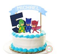 PJ Masks birthday cake topper banner set, 3 pieces, party ...