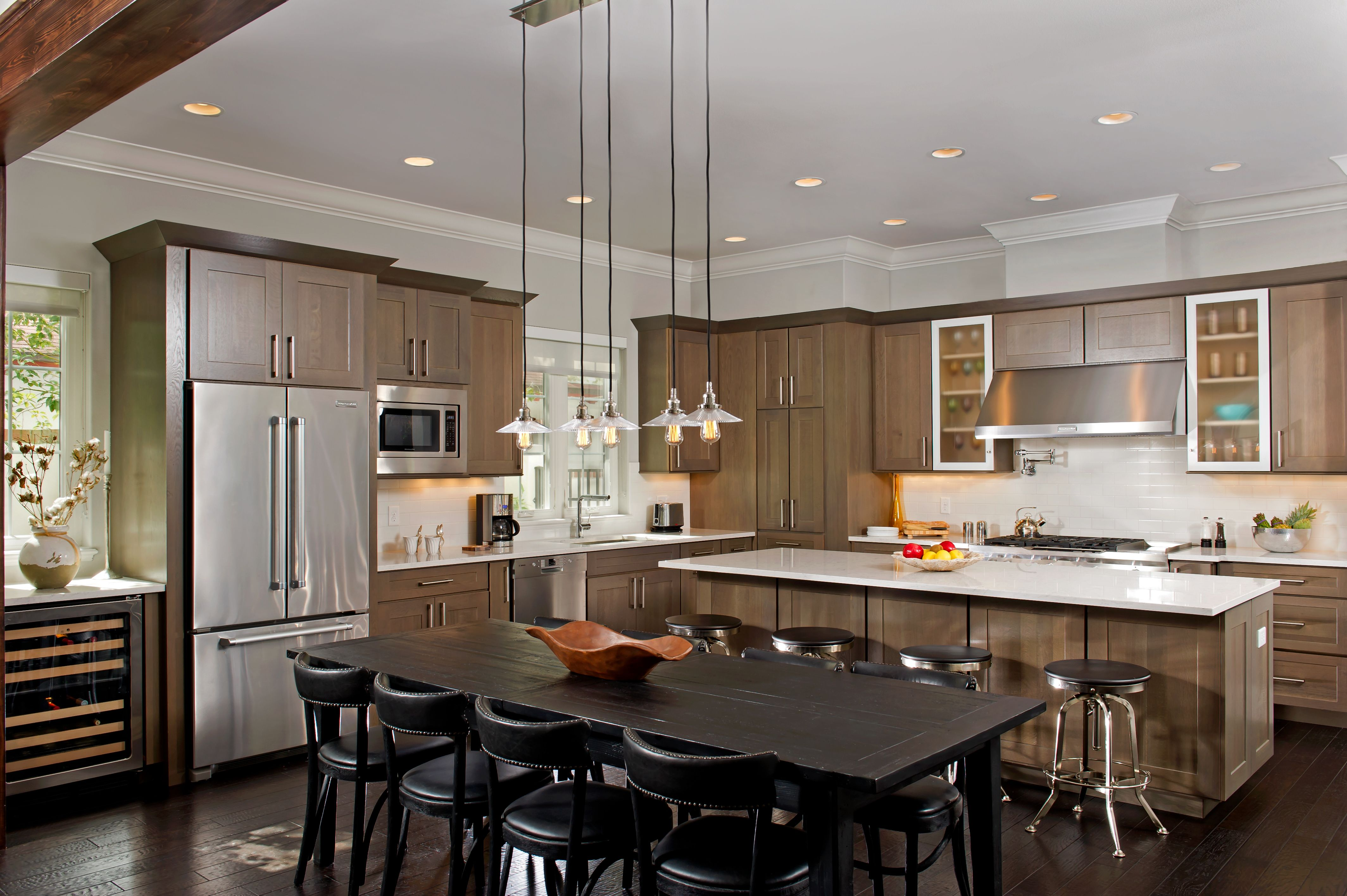 Contemporary Kitchen Featuring Kabinart Mission Cherry