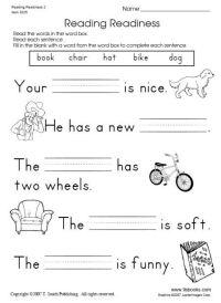 Snapshot image of Reading Readiness Worksheet 2   Things ...