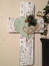 SOLD----Shabby Chic wood cross handmade from reclaimed ...