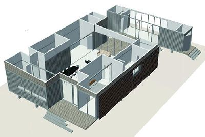 Rendering Of Shipping Container House Design By Christopher