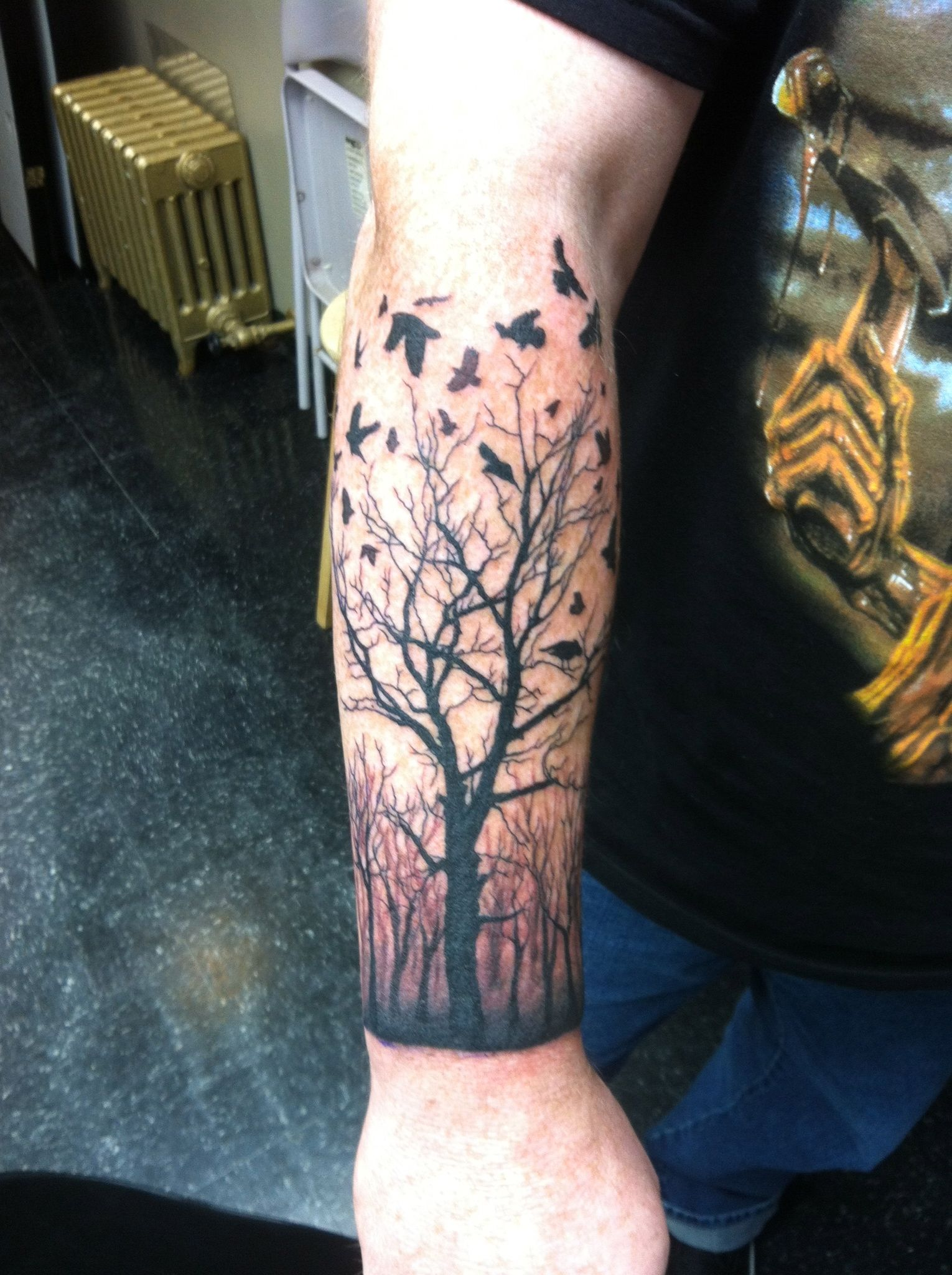 Dead Forest Forearm Tattoo