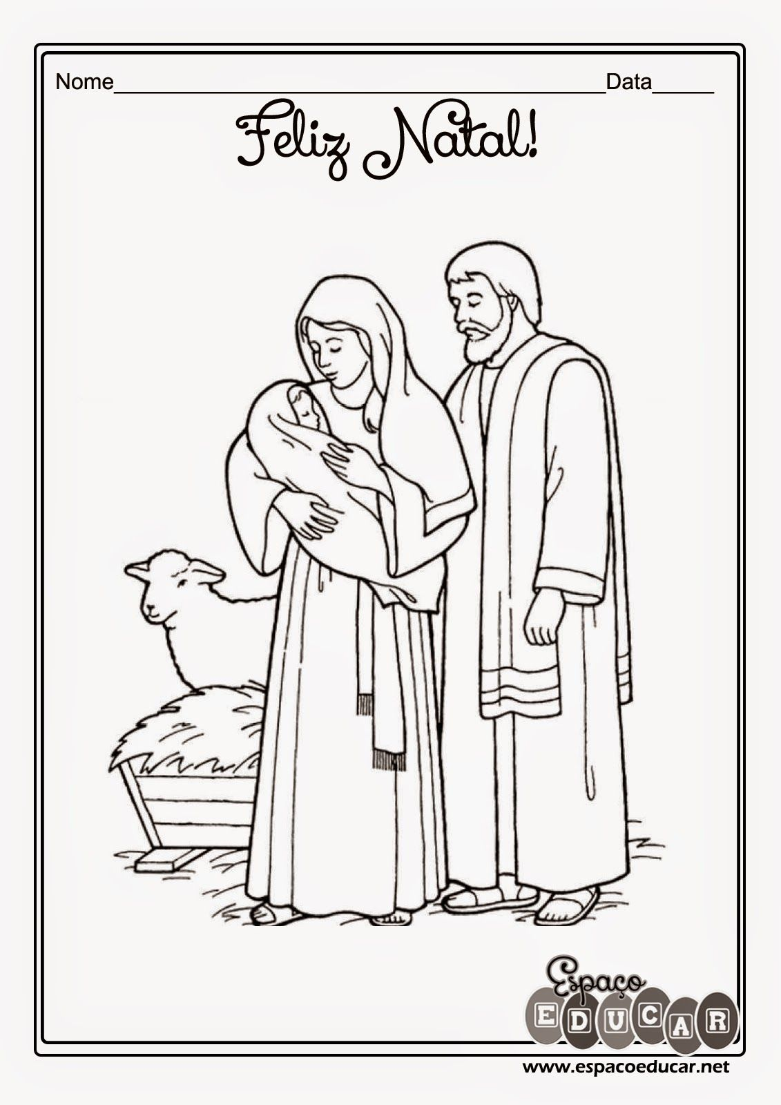 ESPAÇO EDUCAR: Desenhos do nascimento de Jesus para
