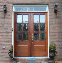 Double Front Doors with Glass