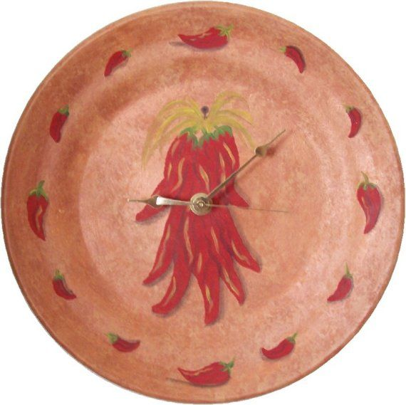 Pepper Wall Clock Chili Kitchen