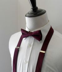 Burgundy Bowtie and Suspenders Set- Men's, Teen, Youth by ...