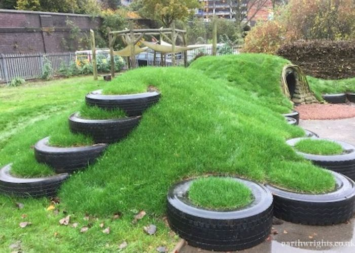 Creative and cute backyard garden playground for kids also
