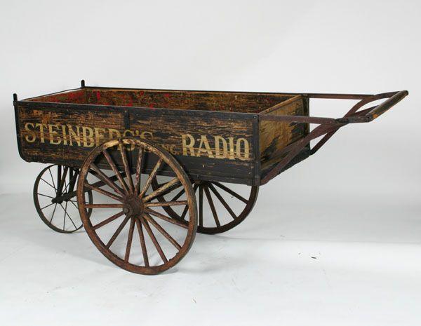 Steinbergs Radio Antique Peddler Wagon Cart 19thC