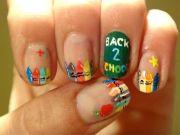 manicure design. school