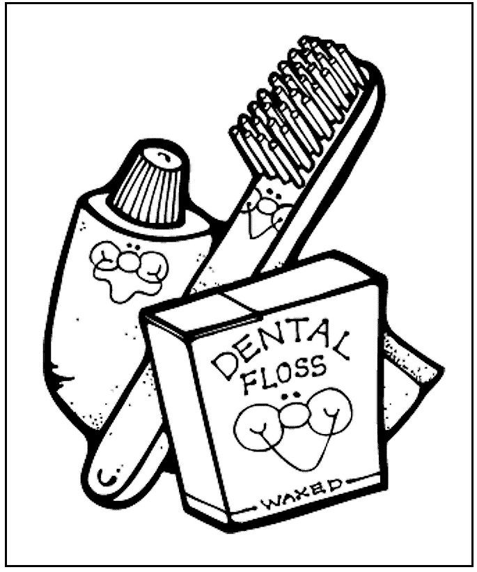 Dental Health Coloring Page from makingfriends.com