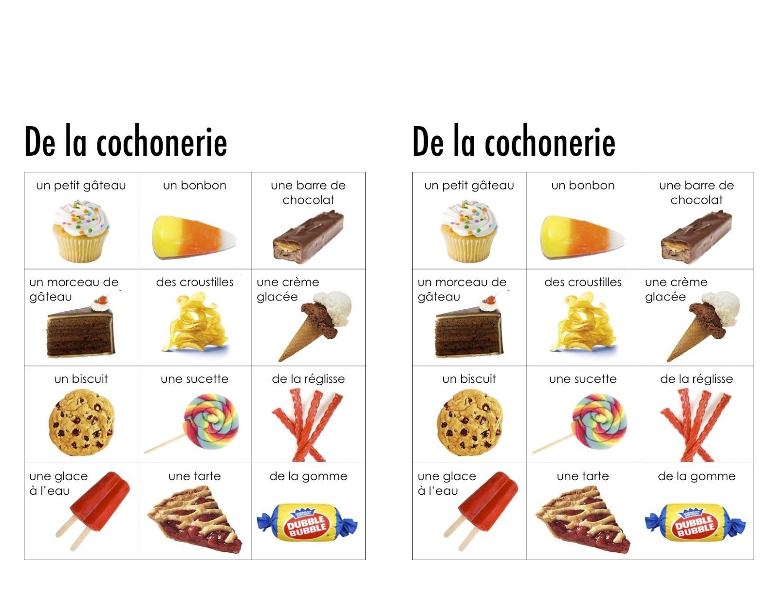 Junk Food Vocabulary In Spanish