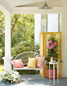 Color burst also create an outdoor porch retreat front porches and rh pinterest