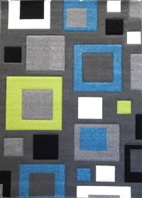 AREA RUG FOR WAITING AREA. Wool Honeycomb Design Green ...