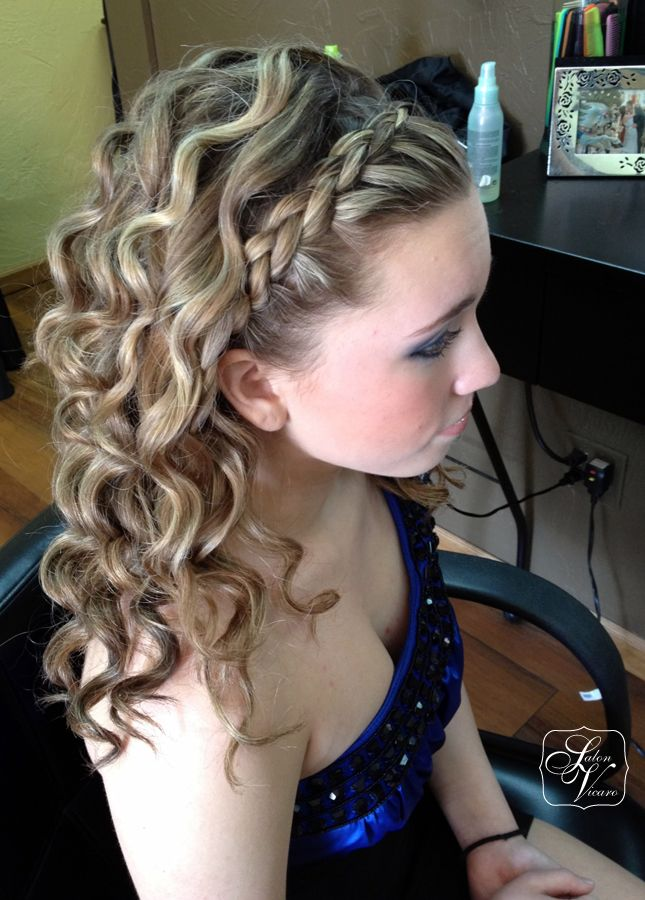 Prom Hairstyles With Braids And Curls Half Up Half Down Google