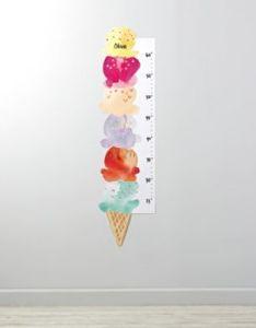 ice cream decal growth chart also newborn baby and children   rh pinterest
