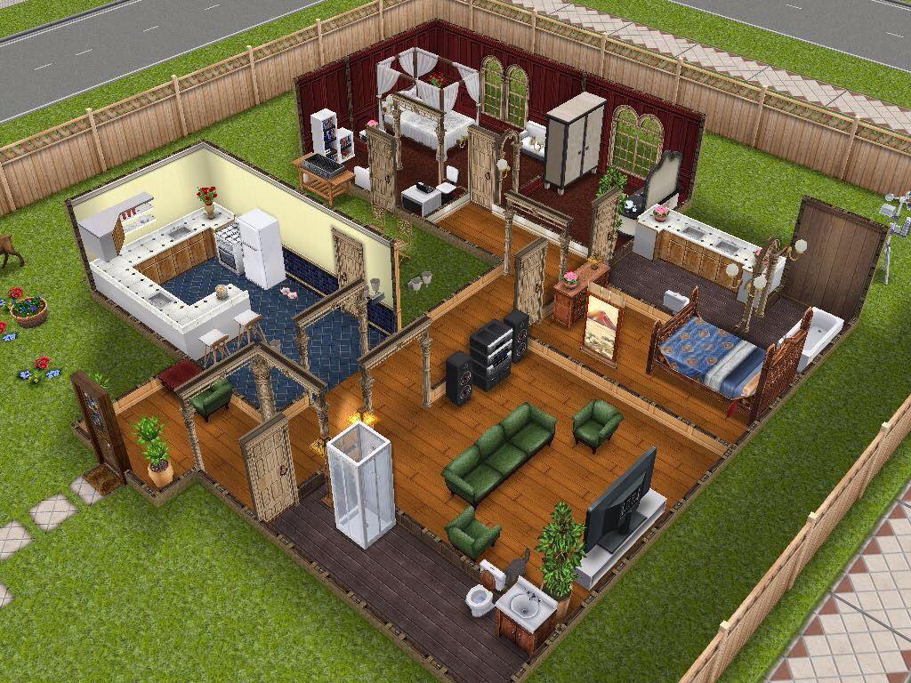 Easy Single Story House Sims Freeplay House Ideas Pinterest